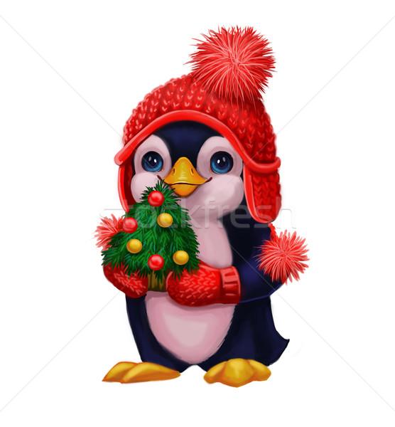 Сток-фото: пингвин · рождественская · елка · с · Новым · годом · характер