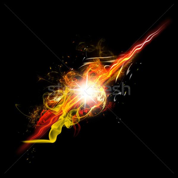 Zdjęcia stock: Ognia · iskra · płomienie · realistyczny · jasne · flash