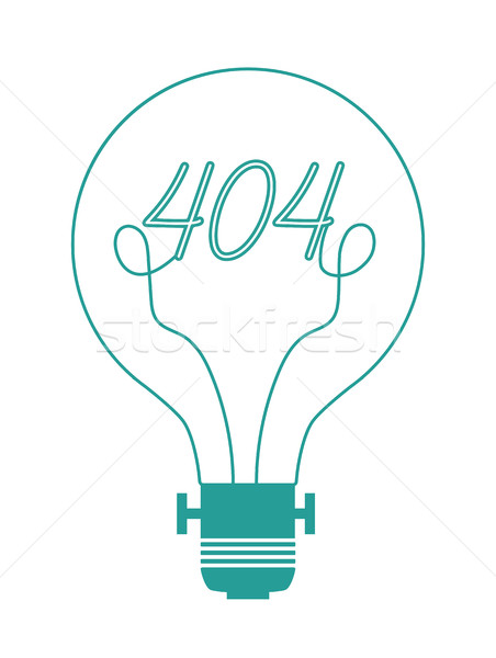 Animated Cartoon Electric Lightbulb Lamp Icon Logo in Flat Vector Isolated Stock photo © Loud-Mango