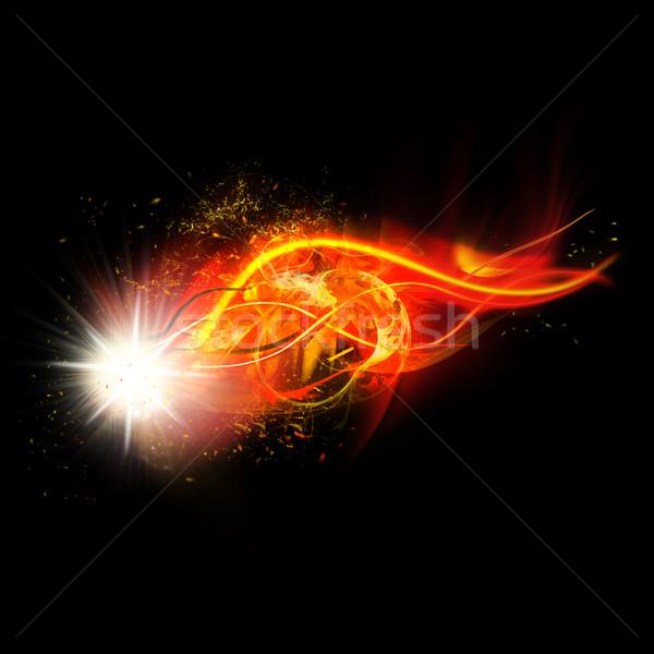 Ognia iskra płomienie realistyczny jasne flash Zdjęcia stock © Loud-Mango