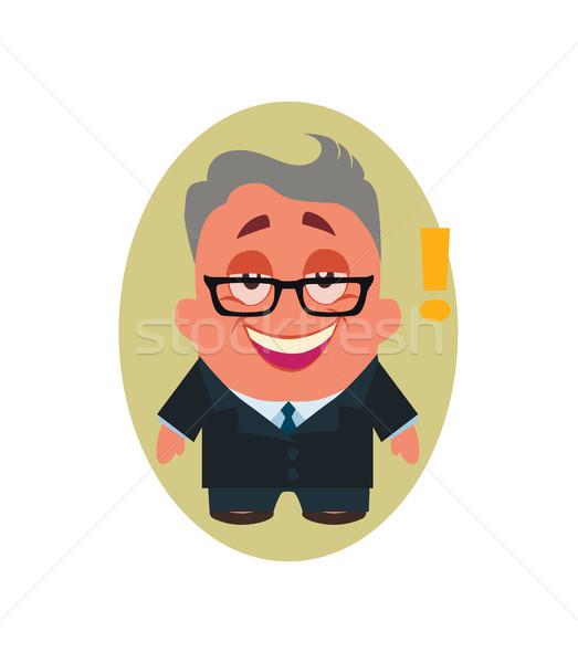 śmiechem uśmiechnięty szczęśliwy człowiek biznesu avatar mały Zdjęcia stock © Loud-Mango