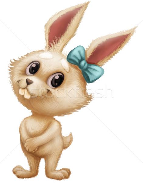 Cute bunny karakter mascotte Stockfoto © Loud-Mango
