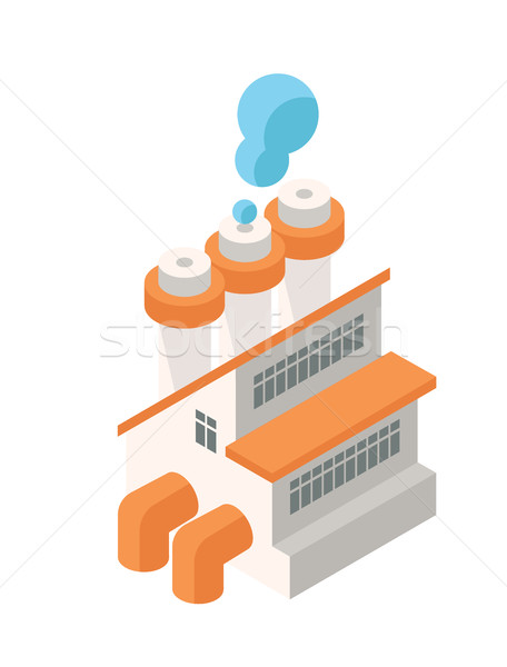 Isometric Industrial Factory Building Icon - Web Element, Tileset Map, Game Stock photo © Loud-Mango