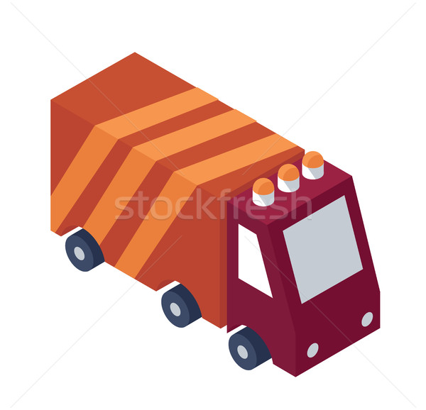 Isometric Service Truck Object, Logo, Icon - Element for Web, Tileset Map, Game Stock photo © Loud-Mango