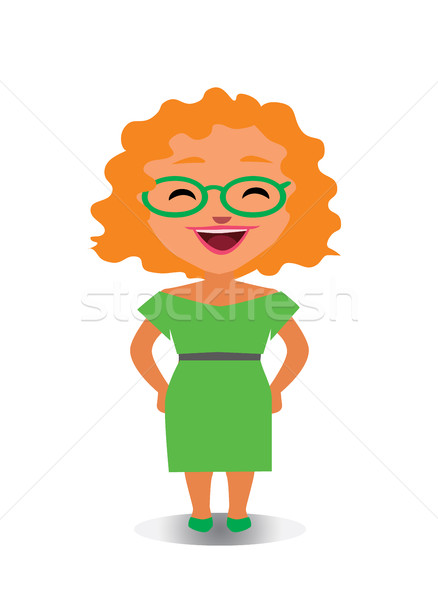 Happy and Smiling, Laughing Avatar of Cartoon Character in Flat Vector Stock photo © Loud-Mango