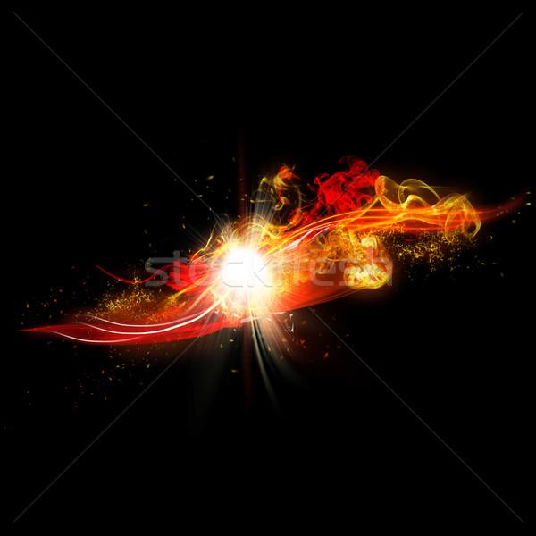 Yangın kıvılcım Alevler gerçekçi parlak flaş Stok fotoğraf © Loud-Mango
