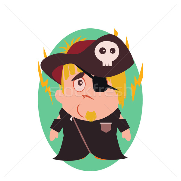 Sad and Unhappy Pirate - Funny Avatar of Little Person Cartoon Character Stock photo © Loud-Mango