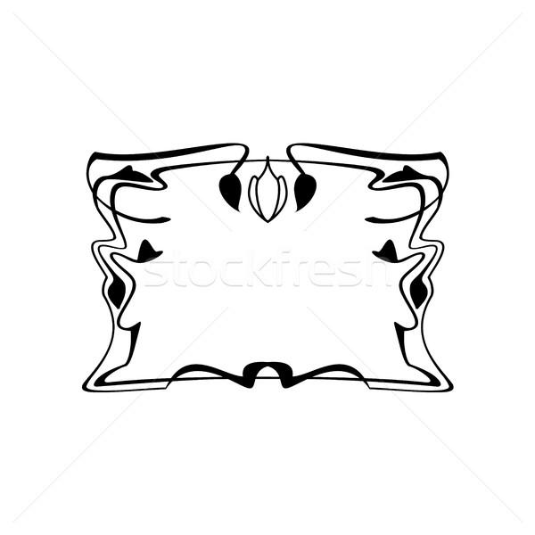Klasszikus kalligrafikus tér keret dekoratív virágmintás Stock fotó © Loud-Mango