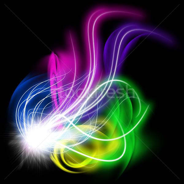 Stok fotoğraf: Renkli · soyut · ışık · parlama · fraktal · etki