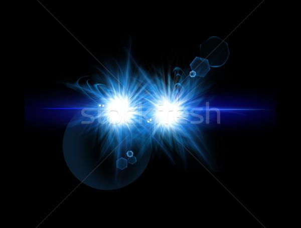 Optik ışık star etki gerçekçi Stok fotoğraf © Loud-Mango