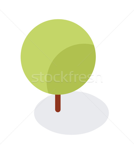 Minimalist Flat Tree Object or Icon - Element for Web, Game Object, Landscape Stock photo © Loud-Mango