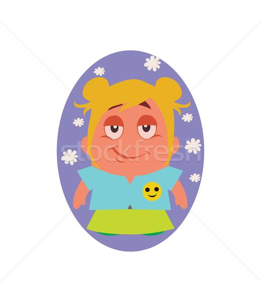 Ciddi komik avatar küçük kişi Stok fotoğraf © Loud-Mango