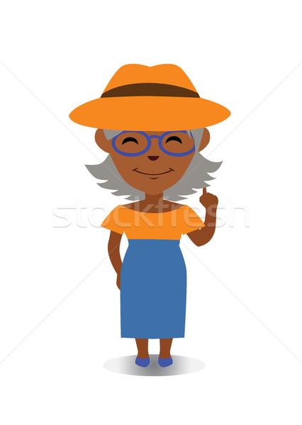 Szczęśliwy uśmiechnięty śmiechem avatar wektora Zdjęcia stock © Loud-Mango