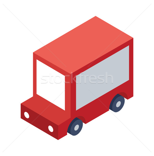 Isometric Delivery Truck Object or Icon - Element for Web, Tileset Map, Game Stock photo © Loud-Mango