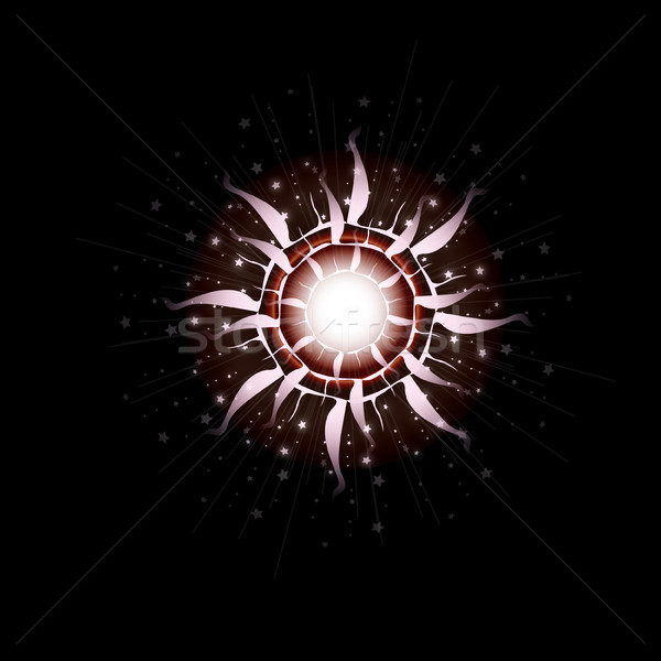Bright Star Burst Light Effect with Glittering, Glowing Sparkles - Nebula Flare Stock photo © Loud-Mango