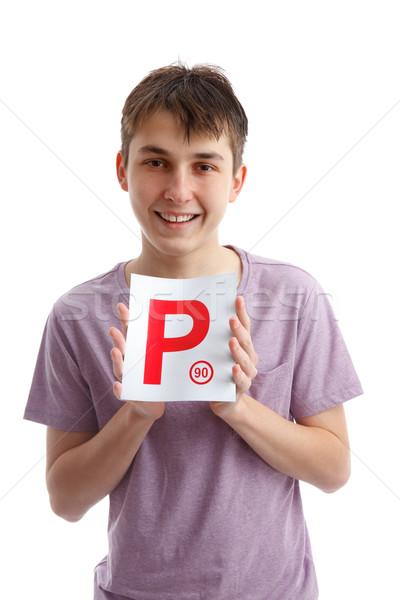 Successful P Plate Driver Stock photo © lovleah