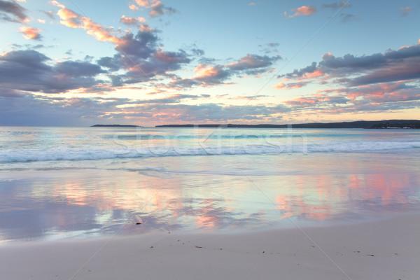 Pretty pastel dawn sunrise at Hyams Beach NSW Australia Stock photo © lovleah