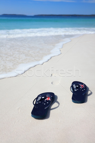 Australian flag thongs beach vacation celebration Stock photo © lovleah