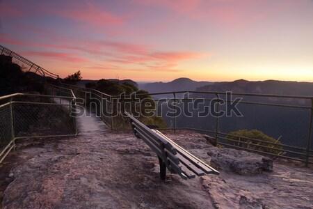 Pulpit Rock south views Blue Mountains Australia Stock photo © lovleah