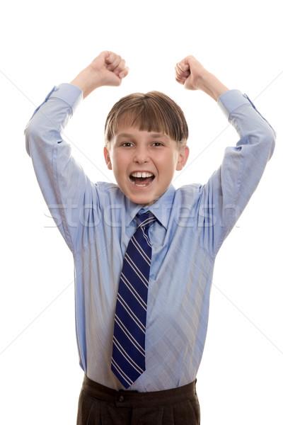 School boy student success achievement Stock photo © lovleah