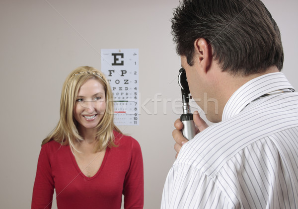 Eye examination checkup Stock photo © lovleah