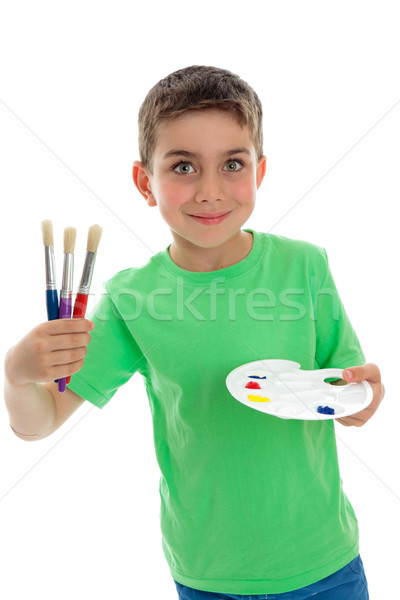 Happy child ready for art and craft Stock photo © lovleah