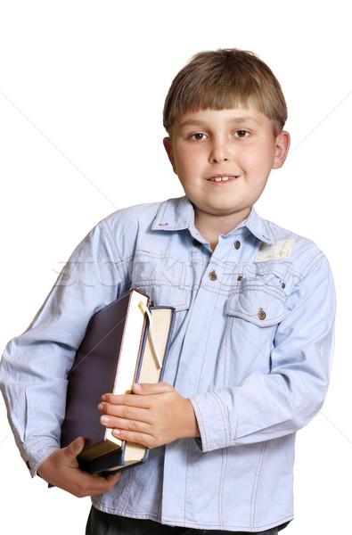 школьник студент книгах два руки Сток-фото © lovleah