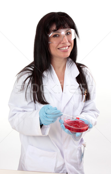 Női laboratórium tudós biológus nő orvos Stock fotó © lovleah