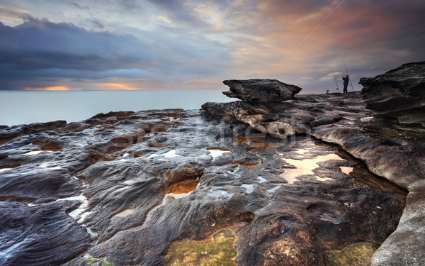 Ujjongás dél kilátás kövek Ausztrália kő Stock fotó © lovleah