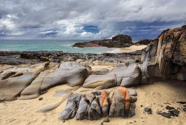 Rocky beach on the south coast NSW Stock photo © lovleah