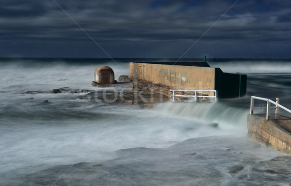 Newcastle Ocean Baths underwater in large swell Stock photo © lovleah