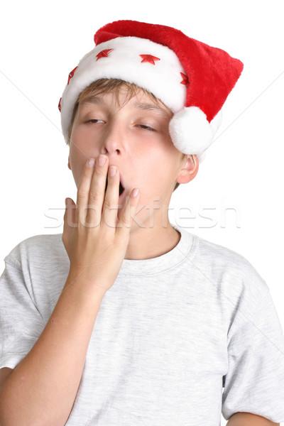 Zmęczony christmas zakupy dziecko zmęczenie Zdjęcia stock © lovleah