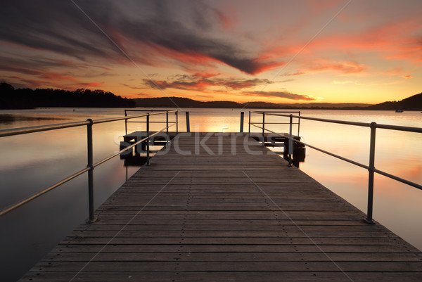 Stunning summer sunset from Carak Wharf Stock photo © lovleah
