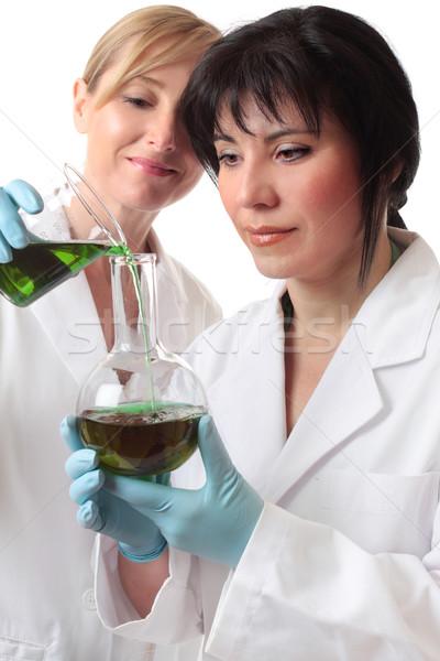 Badań dwa kobiet pracy laboratorium medycznych Zdjęcia stock © lovleah