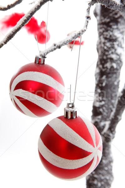 Christmas Decorations baubles Stock photo © lovleah
