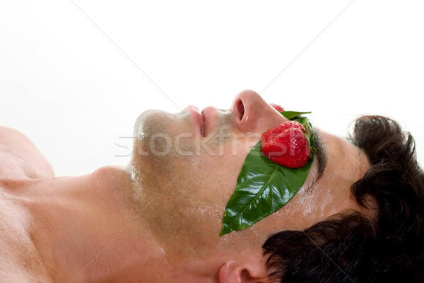Man Fruit Acid Peel Mask Stock photo © lovleah