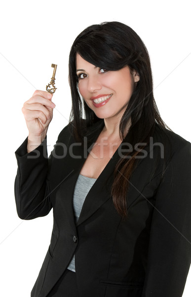 Smiling Businesswoman Unlock your potential Stock photo © lovleah