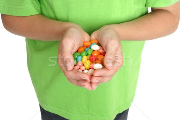 手 食品 子 キャンディ 男性 ストックフォト © lovleah