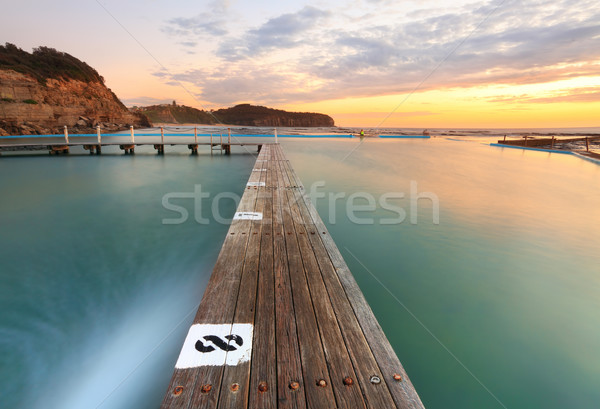 North Narrabeen Tidal Pool from Lane 8 at Sunrise Stock photo © lovleah