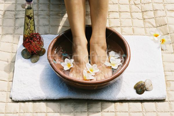 Aromatherapy footsoak Stock photo © lovleah