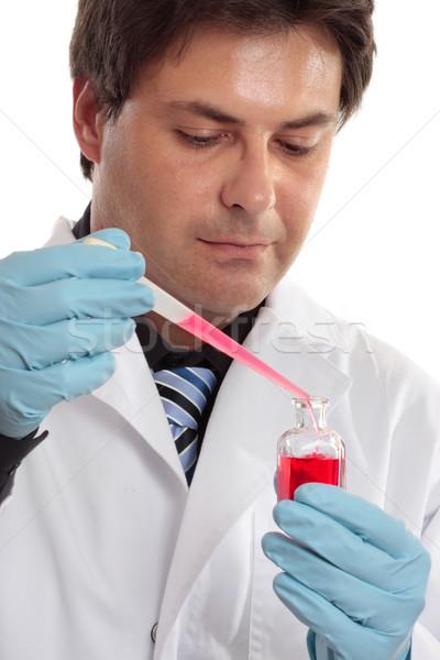 Laboratórium tudományos klinikai profi férfi munka Stock fotó © lovleah