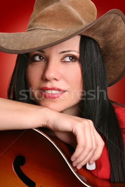 женщину музыканта женщины стране Сток-фото © lovleah