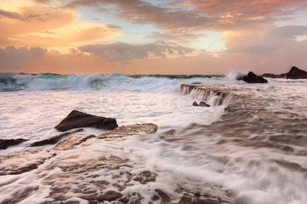 Waves Waterfalls and Sea Foam Stock photo © lovleah