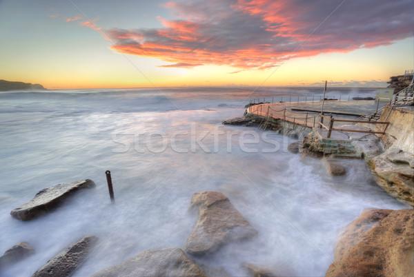 Ocean, mother natures turubulent washing machine Stock photo © lovleah