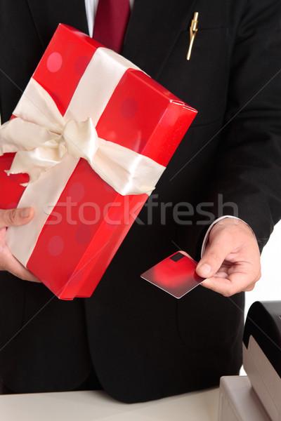 Homem natal outro varejo ocasião especial comprar Foto stock © lovleah