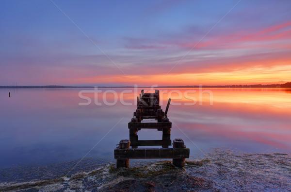 Gorokan Jetty to horizon Stock photo © lovleah