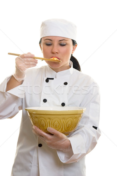 Sabor prueba chef alimentos sabor Foto stock © lovleah