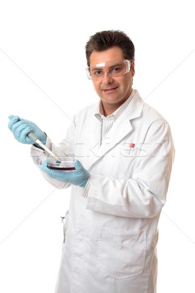 Tudós biológus egyéb hivatás utasítás férfi Stock fotó © lovleah