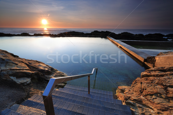 The steps into Blue Pool Bermagui Stock photo © lovleah