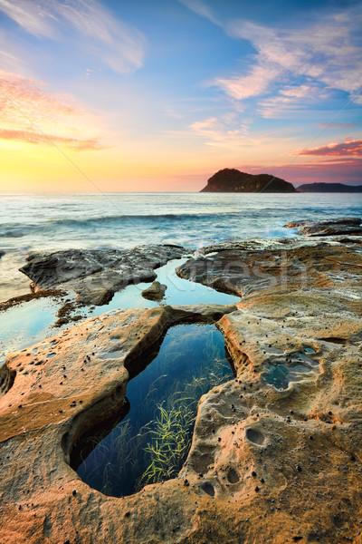 Pearl пляж один многие Австралия воды Сток-фото © lovleah
